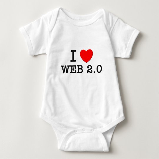 I Love Web 2.0 Baby Bodysuit