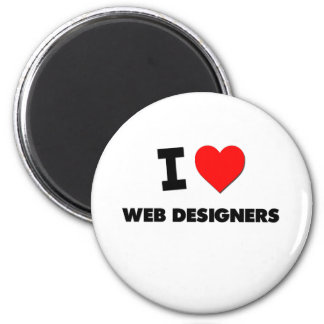 I Love Web Designers 6 Cm Round Magnet