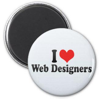 I Love Web Designers Fridge Magnet