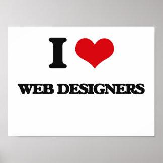 I love Web Designers Poster