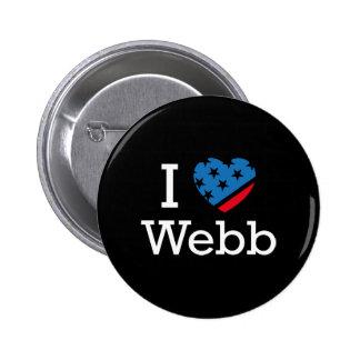 I Love Webb 6 Cm Round Badge