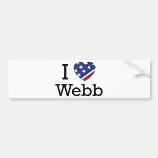 I Love Webb Bumper Sticker