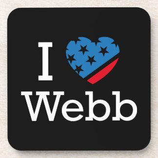 I Love Webb Coasters