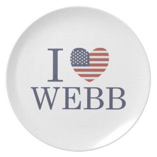 I Love Webb Dinner Plate