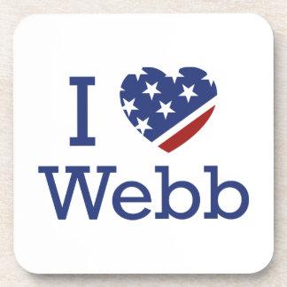 I Love Webb Drink Coaster