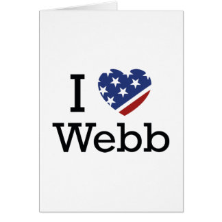 I Love Webb Greeting Card