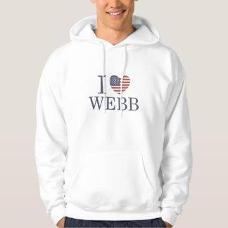 I Love Webb Hooded Sweatshirt