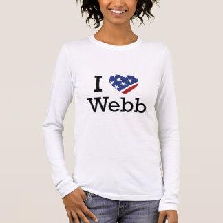 I Love Webb Long Sleeve T-Shirt