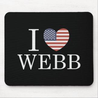 I Love Webb Mouse Pad