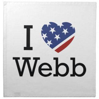I Love Webb Napkins