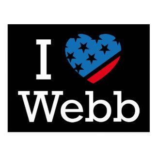 I Love Webb Postcard