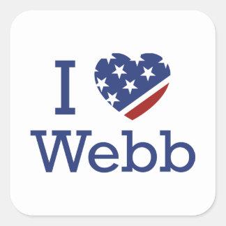 I Love Webb Square Sticker