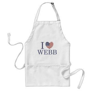 I Love Webb Standard Apron