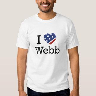 I Love Webb T-shirts