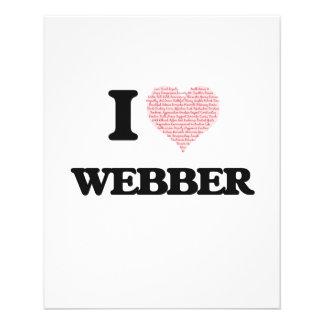 I Love Webber 11.5 Cm X 14 Cm Flyer