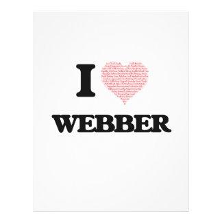 I Love Webber 21.5 Cm X 28 Cm Flyer