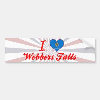 I Love Webbers Falls, Oklahoma Bumper Sticker