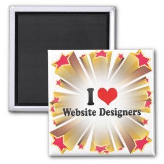 I Love Website Designers Fridge Magnet
