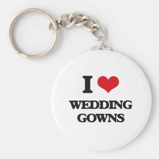 I love Wedding Gowns Basic Round Button Keychain