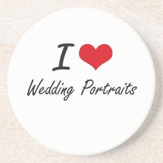 I love Wedding Portraits Drink Coaster