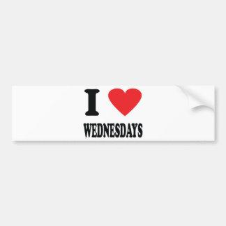 I love wednesdays icon bumper sticker
