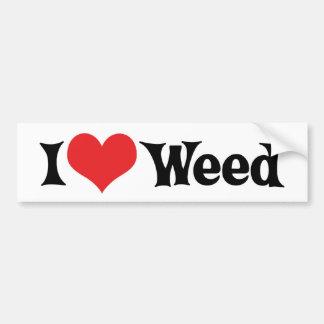 I Love Weed Bumper Sticker