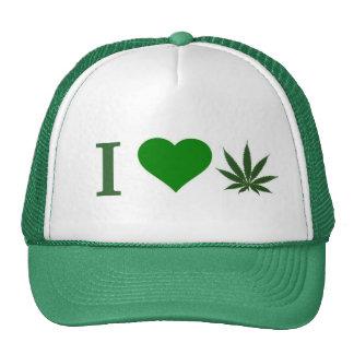 i love weed trucker hats