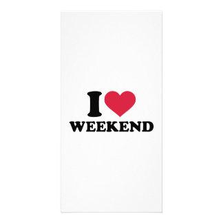 I love weekend personalised photo card