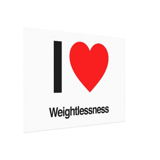 i love weightlessness canvas prints