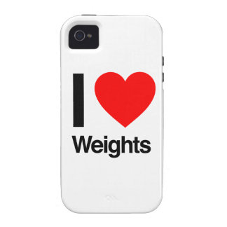 i love weights Case-Mate iPhone 4 cover
