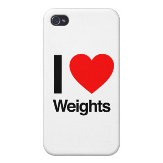 i love weights iPhone 4 cover