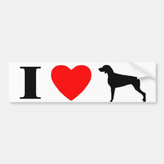 I Love Weimaraners Bumper Sticker