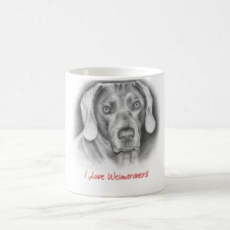 I love Weimaraners Coffee Mug