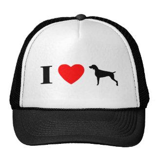 I Love Weimaraners Hat