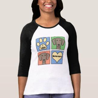 I Love Weimaraners T Shirt