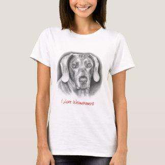 I love Weimaraners t-shirt
