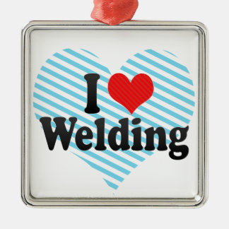 I Love Welding Christmas Ornament
