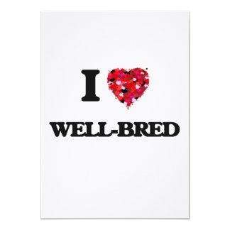 I love Well-Bred 13 Cm X 18 Cm Invitation Card