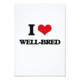 "I love Well-Bred 3.5"" X 5"" Invitation Card"