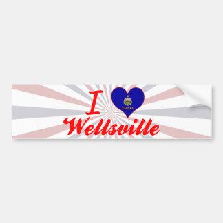 I Love Wellsville, Kansas Bumper Sticker