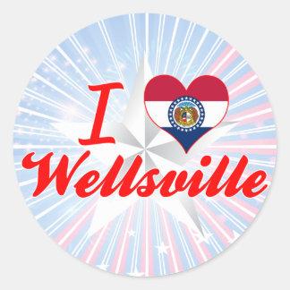 I Love Wellsville, Missouri Stickers