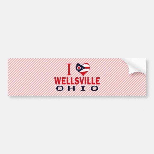 I love Wellsville, Ohio Bumper Stickers