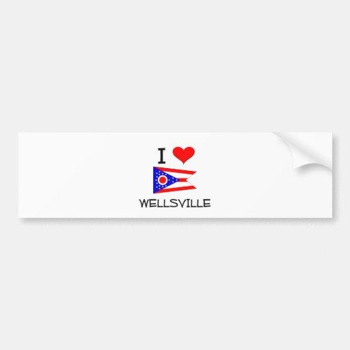 I Love Wellsville Ohio Bumper Sticker