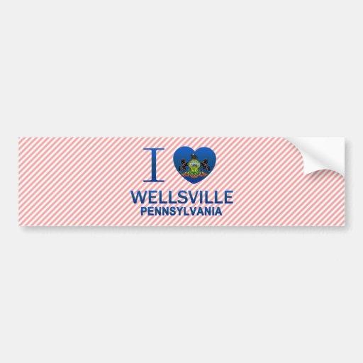 I Love Wellsville, PA Bumper Sticker