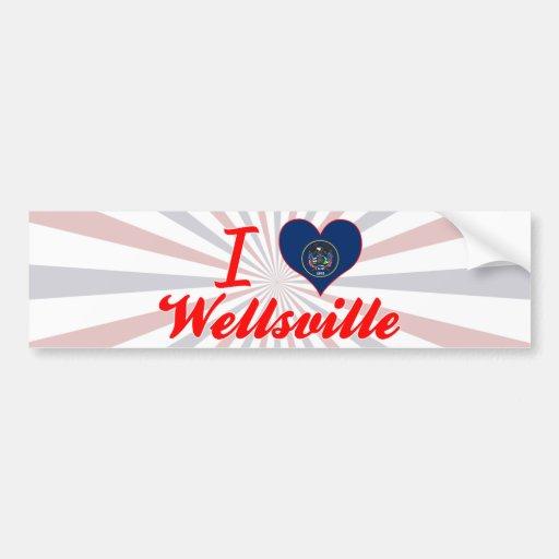 I Love Wellsville, Utah Bumper Sticker