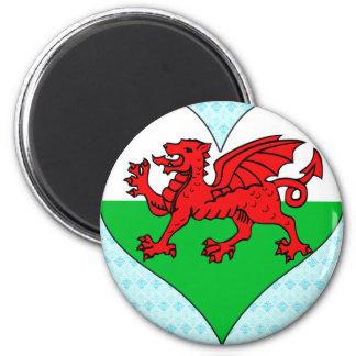 I Love Welsh 6 Cm Round Magnet