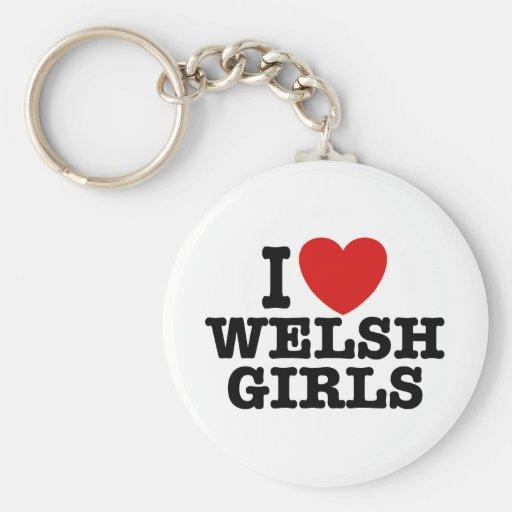 I Love Welsh Girls Key Chains