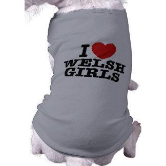 I Love Welsh Girls Sleeveless Dog Shirt