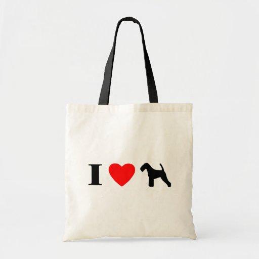 I Love Welsh Terriers Bag