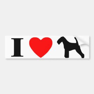 I Love Welsh Terriers Bumper Sticker